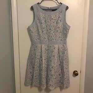 Blue Lace Summer Dress